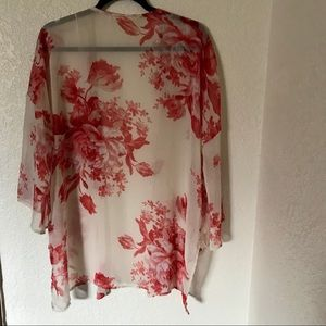 Floral and Femme cardigan